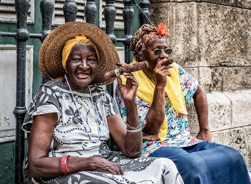 Cigar Smoking Grandmas (Vintage)