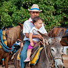Cuban Kids on a Donkey