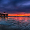 A Fiery Sunset in Manhattan Beach