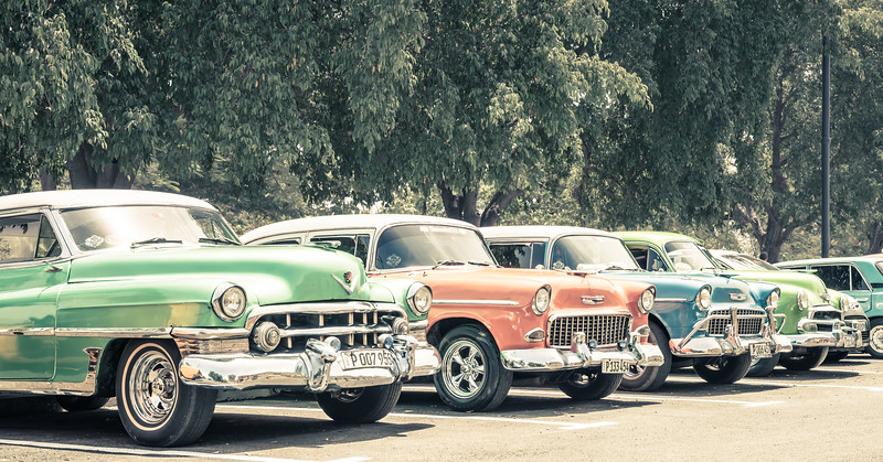 Pretty Classics All Lined Up in a Row