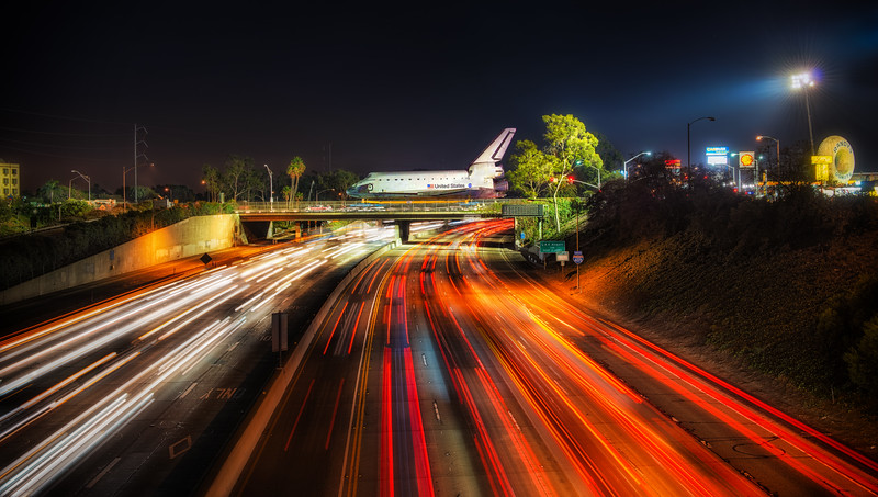 Endeavor Rolls Over the 405 FWY