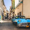 Blue Buick in Havana