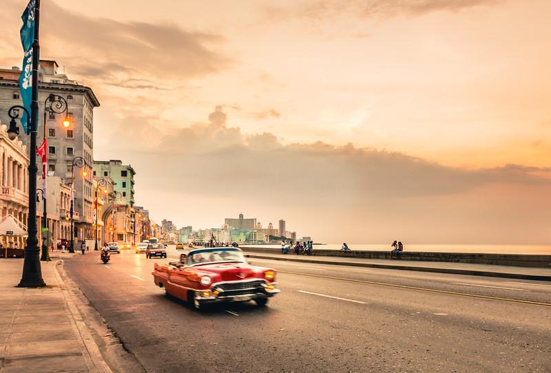 Sunset Cruising on the Malecon