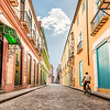 Taking a Bike Ride in Old Havana (Vintage)