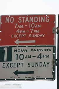 The 'No Standing' signs were everywhere...must be difficult to find a place to 'stand' during commuter hours in the city.
