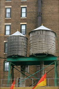 I was amazed that so many of the high rise buildings had these old wooden water towers...found them fascinating.