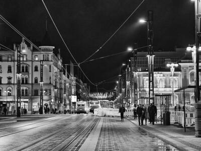 Tampere keskustori bw