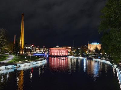 Tammerkoski by night