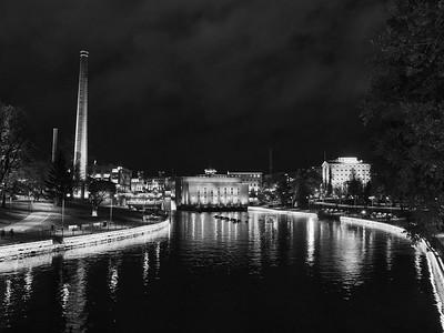 Tannerkoski by night bw