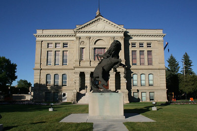 Bronze at capitol building in Cheyenne, WY