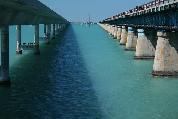 7 Mile Bridge on the way to Key West, Florida - March 2010