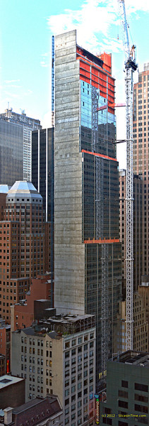 Vertical panarama of Hyatt Times Square - July 27, 2012