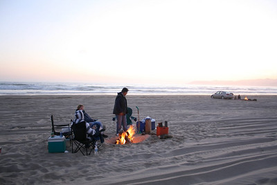 Barbecue on the beach at Oceano Dunes SVRA, CA