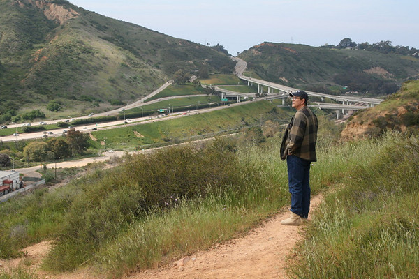 Joe, looking down on the I-5 valley just north of San Diego