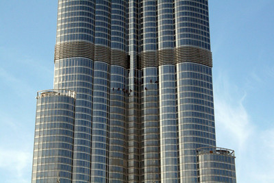 Window Washers - Burj Kalifa - Dubai, United Arab Emirates - November 25, 2009