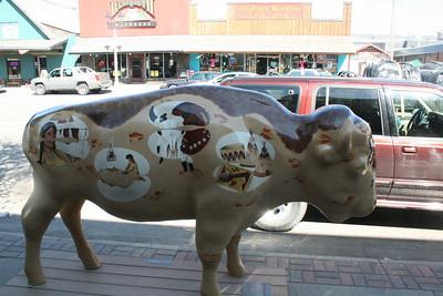Buffalo sculpture - West Yellowstone