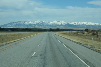 On the road through Montana