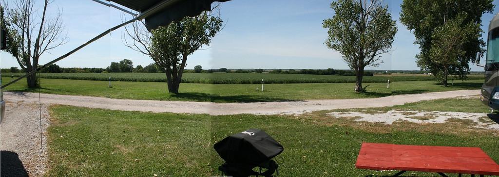 Crude panaramic -- the view from my desk in Greenwood, Nebraska