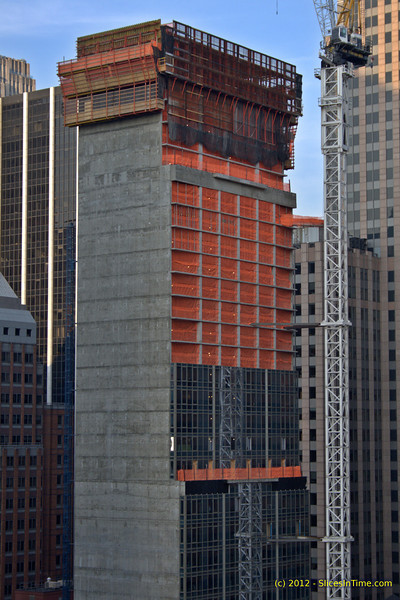 Progress of the Hyatt Times Square - May 16, 2012
