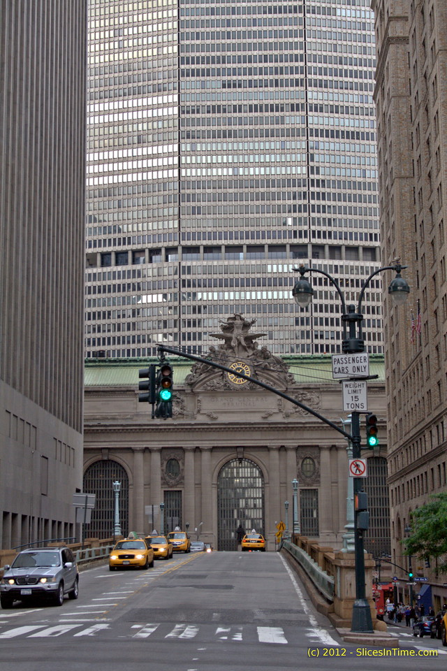 Looking north towards Grand Central Terminal on Park Avenue, New York, NY