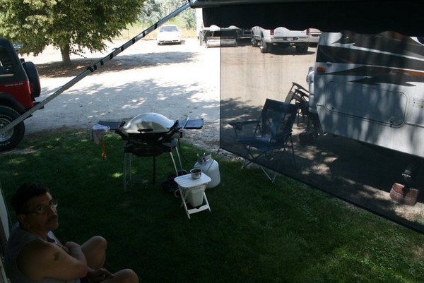 The view from my desk at Mason Creek RV park in Nampa, Idaho. Florence, Oregon