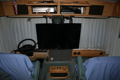 "32"" Samsung flat screen TV in our coach. Bend, Oregon"