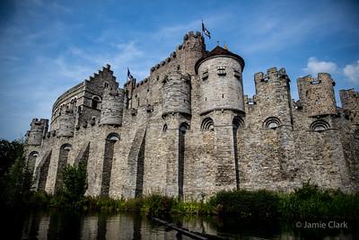 Gravensteen Castle. Ghent, Belgium