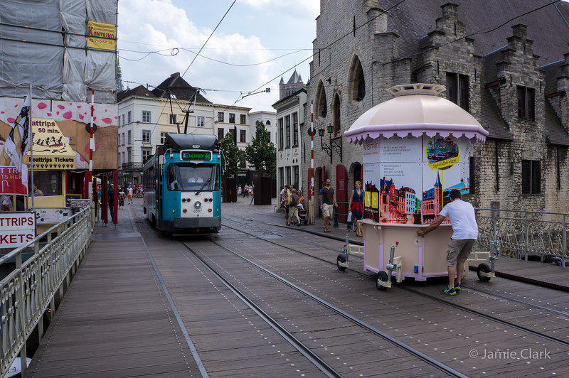 Karl dreamed of being a real tram when he grew up. Ghent, Belgium