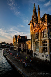 Waiting for the sunset. Ghent, Belgium