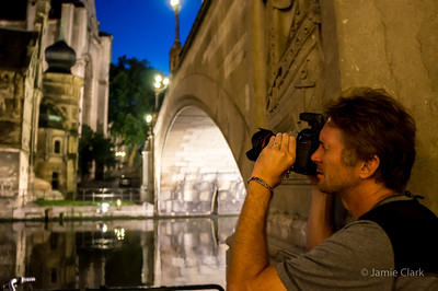 Photographing St Michael's. Ghent, Belgium