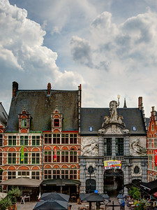 Poseidon building. Ghent, Belgium