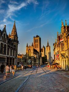 St. Nicholas and Belfort. Ghent, Belgium