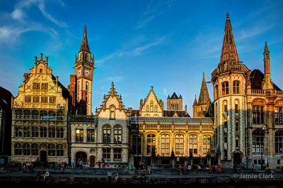 Waterfront View. Ghent, Belgium