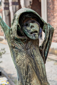 The scariest sculpture at Cimitero Monumentale di Milano, Milan, Italy, October 2017