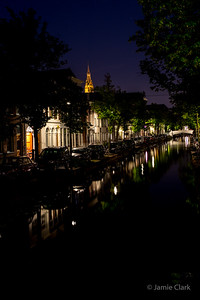 Late night canal stroll. So many reflections! Delft, Netherlands
