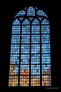 Looking out of the Old Church. Delft, Netherlands