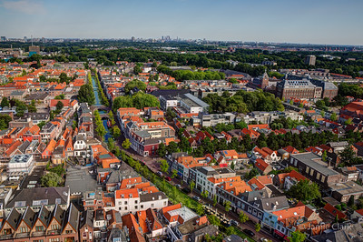 Looking towards The Haag. Ever seen the movie vertigo? Yes? Then you can probably imagine what this picture looks like in my head. Top of New Church. Delft, Netherlands