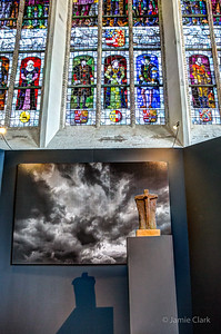 Another art installation in a church. Old Church. Delft, Netherlands