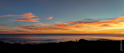 Fist Sunset of the year! 2019-01-01 Low Tide Nature Hike From Moss Beach to Princeton-by-the-Sea, California