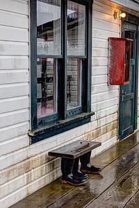 Shoes outside, please