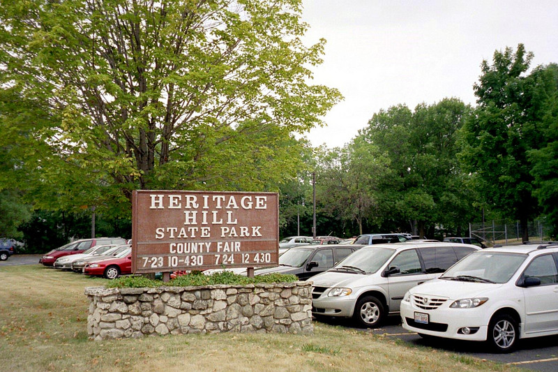 Heritage Hill State Park sign.