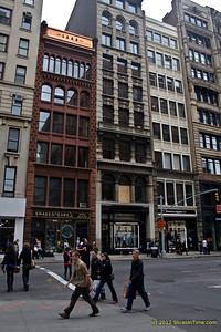 Old narrow buildings near NYU