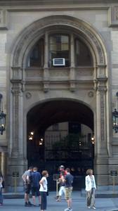 The Dakota Apartments on 72nd St where John Lennon was shot.