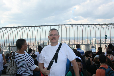 Gary at the top of The Empire State Building, New York City, New York