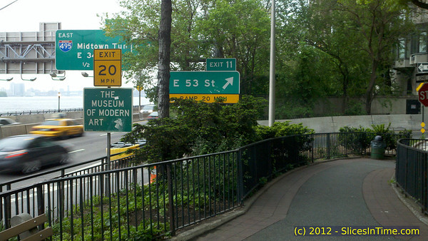 53rd St exit from the FDR at Sutton Place Park - Midtown walk, May 5, 2012 - Motorola DroidX