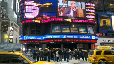 ABC Good Morning America Times Square studio - Coldplay Live (indoors)