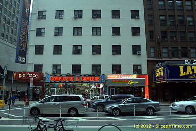 Steak & Shake next to Ed Sullivan Theater
