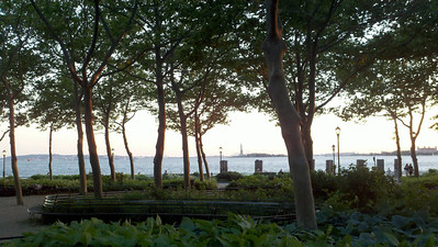 A quick after-work midday visit to Battery Park, New York City