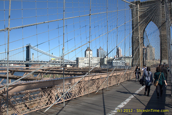 I turned tourist for an hour as I walked over the Brooklyn Bridge. With the weather being perfect, a few thousand other people had the same idea. It truly is an amazing structure.
