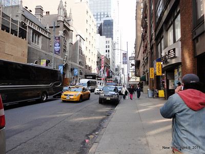 The 1/2 mile walk from home to work in New York City. I now take a better route than this to avoid crowds.